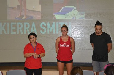 Visit by Olympic Swimmer from Canada - Photo - 1