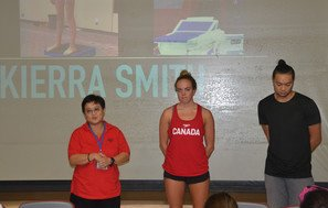Visit by Olympic Swimmer from Canada