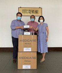 SPCCAA's donation of masks and hand sanitisers - Photo - 1
