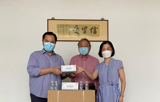 SPCCAA's donation of masks and hand sanitisers